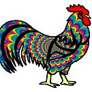 Psychedelic Rooster by imphavok