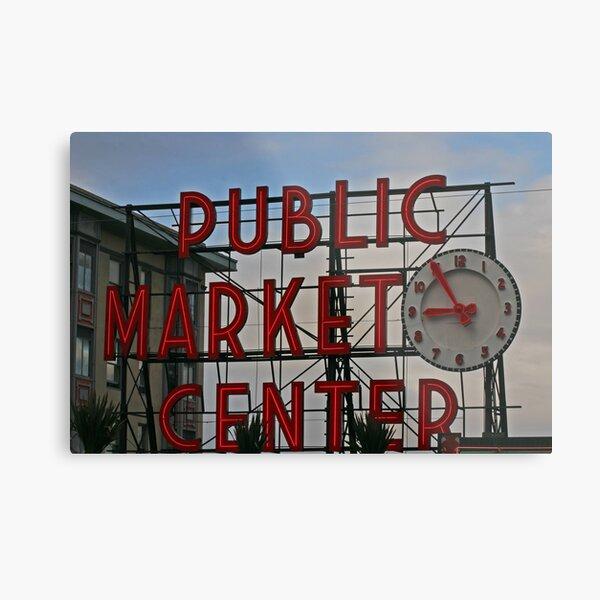 Pike Place Market entrance sign Metal Print