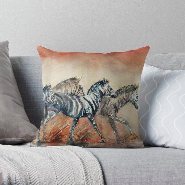 Dusty Zebrs Throw Pillow