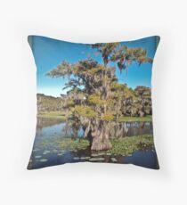 Cypress Trees on Caddo Lake Throw Pillow