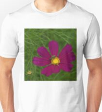 Fascinating Exotics - Metallic Green Bee on a Cosmos Flower Unisex T-Shirt