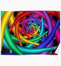 Rainbow Tunnel Poster