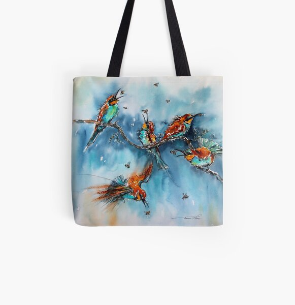 Catching Bees All Over Print Tote Bag