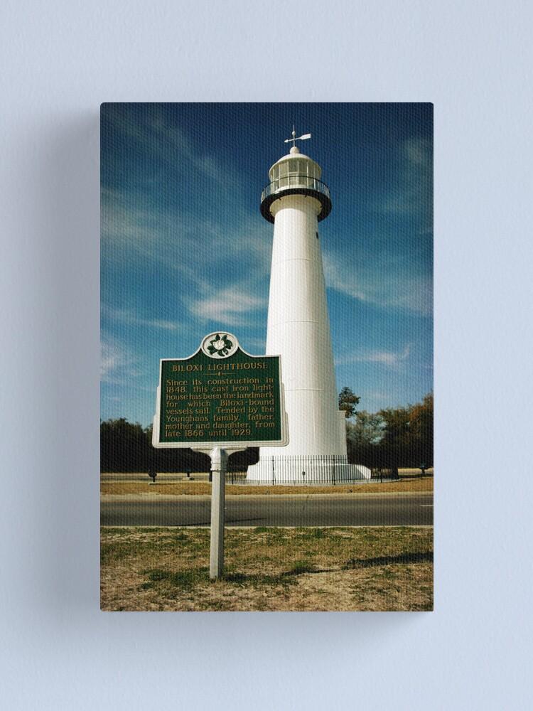 Biloxi Lighthouse Canvas Print By Jonicool Redbubble