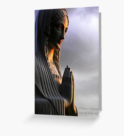 Say a Prayer (Madonna statue) Greeting Card