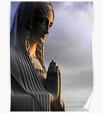 Say a Prayer (Madonna statue) Poster