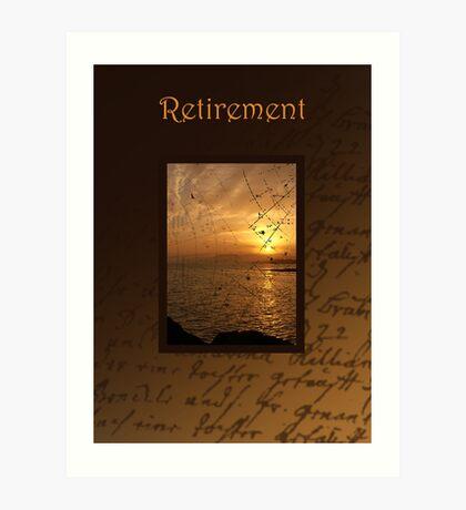 Retirement Card Art Print