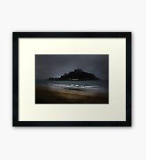 Misty Mount. Framed Print