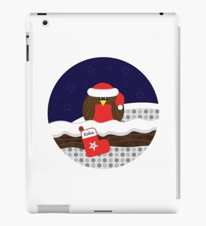 Robin On Christmas Eve iPad Case/Skin