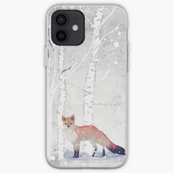 WINTER FOX by Monika Strigel iPhone Soft Case
