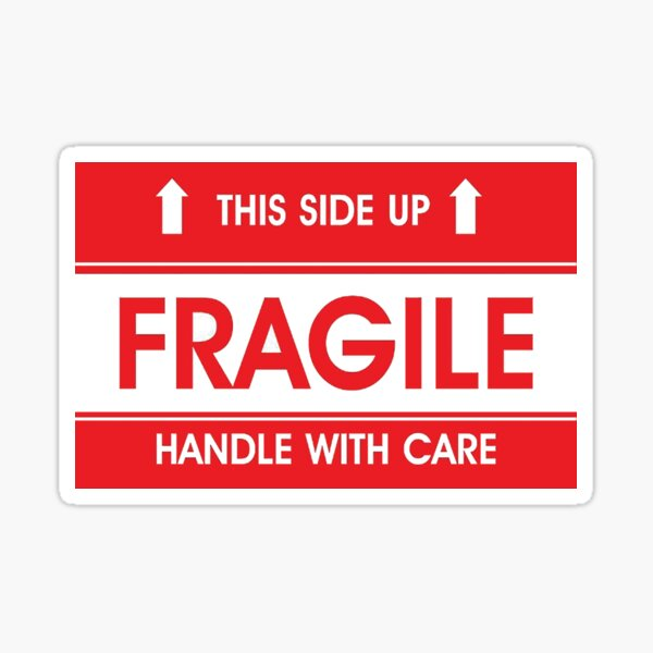 This side up, fragile, handle with care Sticker