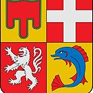 Coat of Arms of Auvergne-Rhône-Alpes, France by PZAndrews
