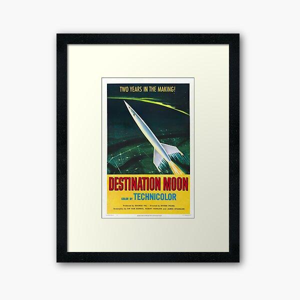 Destination Moon Sci Fi Movie Vintage Poster