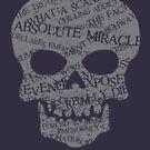 Typographic Style Skull by jazzworldquest
