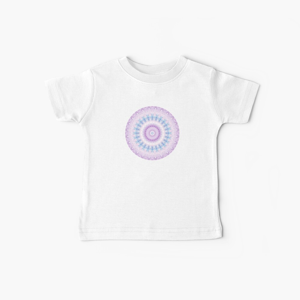 Pastel Purple and Blue Mandala Baby T-Shirt