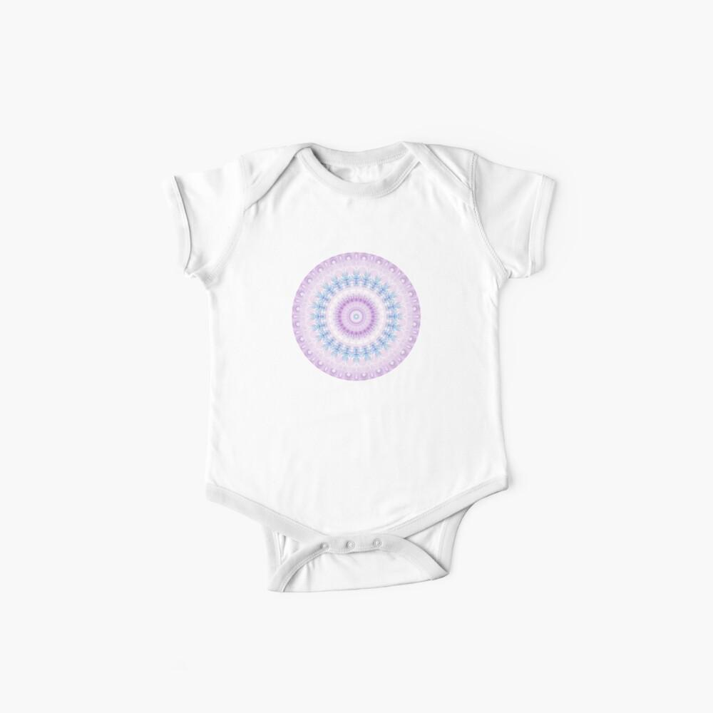 Pastel Purple and Blue Mandala Baby One-Piece