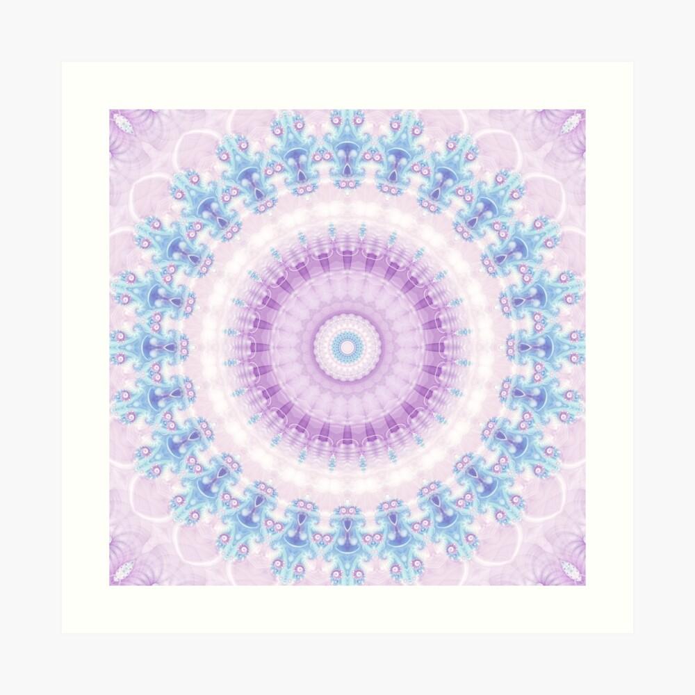 Pastel Purple and Blue Mandala Art Print