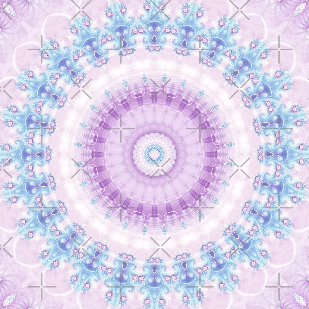 Pastel Purple and Blue Mandala by Kelly Dietrich
