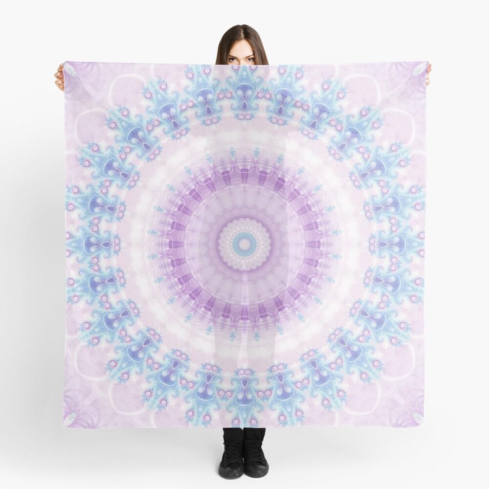 Pastel Purple and Blue Mandala Scarf