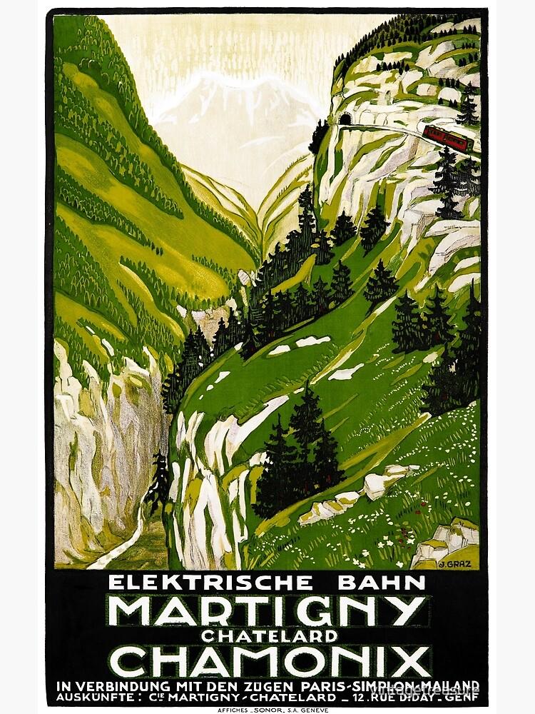 Switzerland Vintage Travel Poster Restored by vintagetreasure