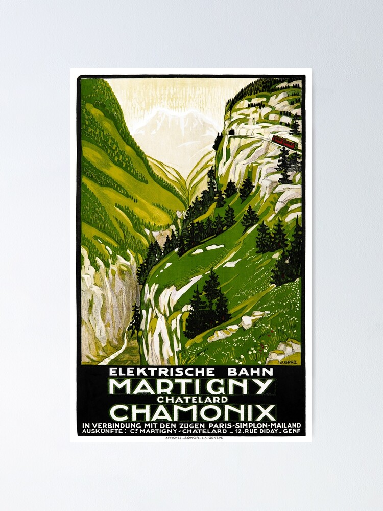 Alternate view of Switzerland Vintage Travel Poster Restored Poster