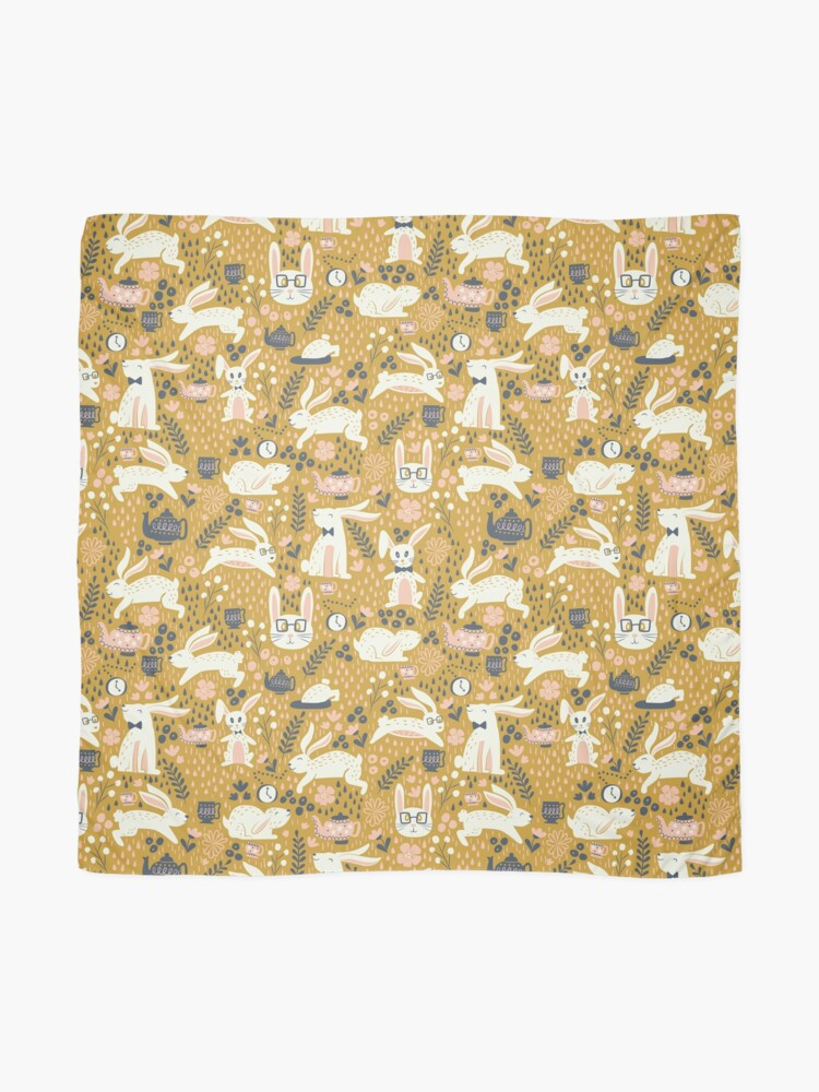 Alternate view of Bunnies + Teapots in Gold Scarf
