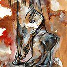 Dancing barefoot in the rain / Dans kaalvoet in die reën by Elizabeth Kendall