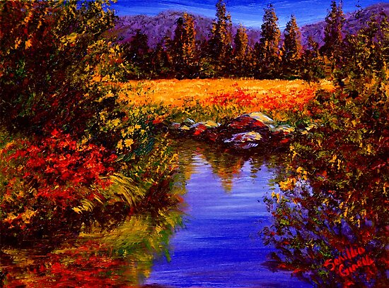 River Reflections on Tuolumne Meadows by sesillie