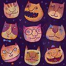 Cat heads by shizayats