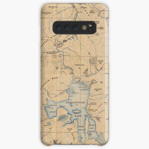 Vintage Karte des Yellowstone-Nationalparks (1889) Samsung Galaxy Leichte Hülle