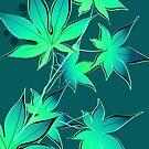 Dark Teal Leaves by zhirobas