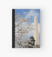 Washington Monument and the Cherry Blossoms Hardcover Journal
