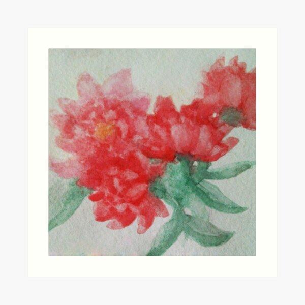 watercolor study: flowers Art Print