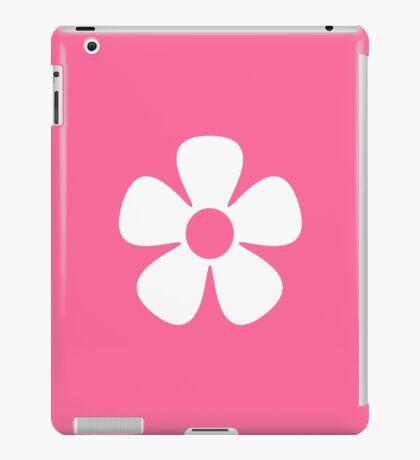White Flower - Pink Background iPad Case/Skin