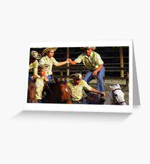 Los Vaqueros Greeting Card