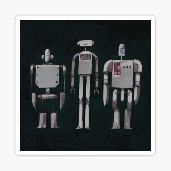 We are not Robots (The Three Amigos) Sticker