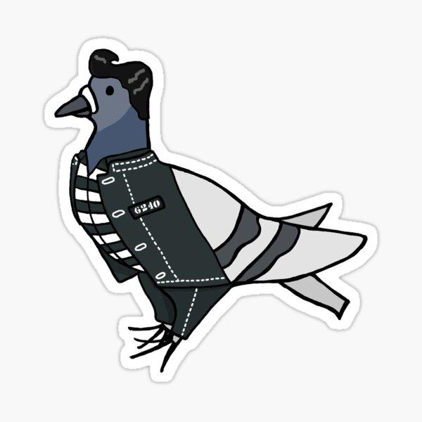 Fred the Pigeon Elvis Coosplay Sticker Sticker