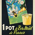 1 pot de bon miel de france 37158 abeille vintage poster by vintagetravel