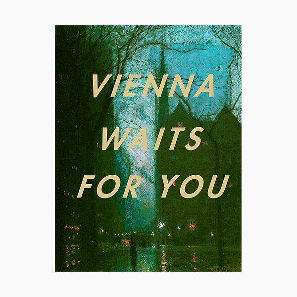 Billy joel Vienna Photographic Print