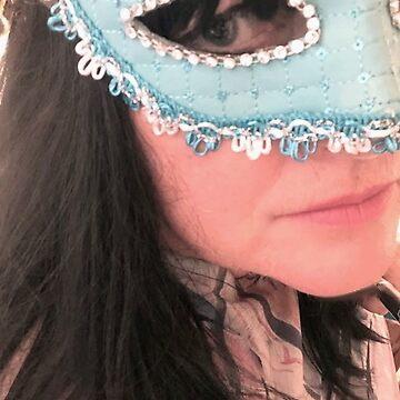 Blue Mask Self Portrait by AntheaSlade