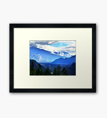 Coast Mountains,Summer Framed Print