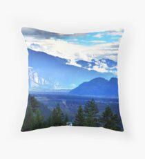 Coast Mountains,Summer Throw Pillow