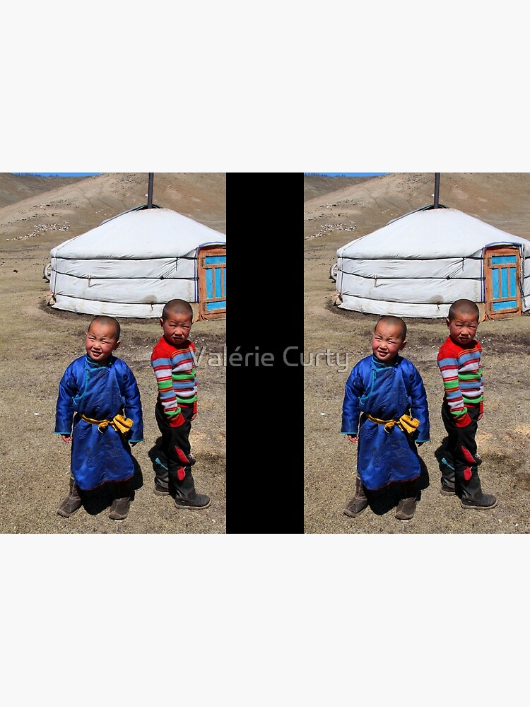 Mongolian children by valeriecurty