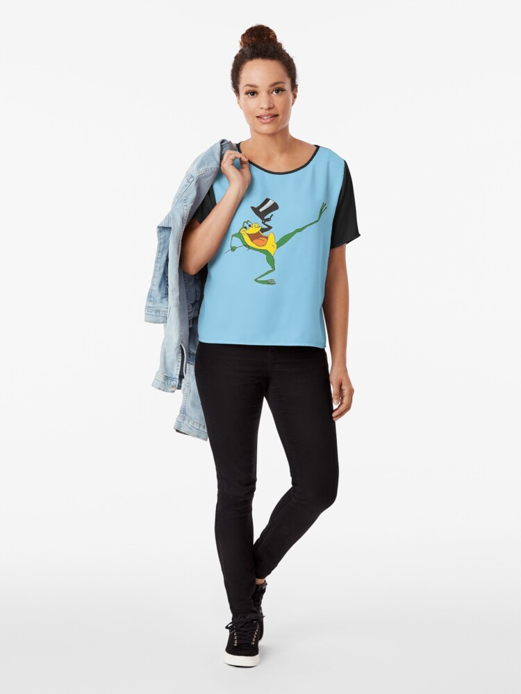Alternate view of Hollywood Frog Chiffon Top