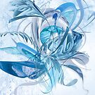 Ice Blue Flower Jukkas by mjvision Mia Niemi by mjvisiondesign