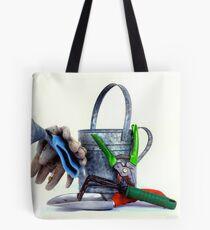Garden tools high key Tote Bag