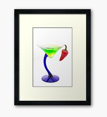 Spicy Martini Framed Print