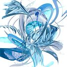 Ice Blue Flower by mjvision Mia Niemi by mjvisiondesign