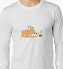 Corgi and Bubble Tea  Long Sleeve T-Shirt