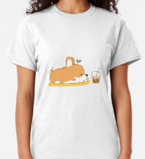 Corgi and Bubble Tea  Classic T-Shirt